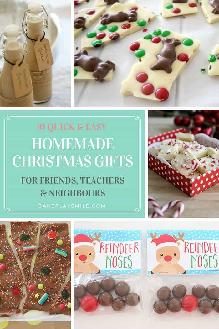 10 Quick & Easy Homemade Christmas Gifts for Teachers ...